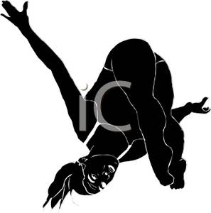 297x300 Black Silhouette Of A Girl Diving
