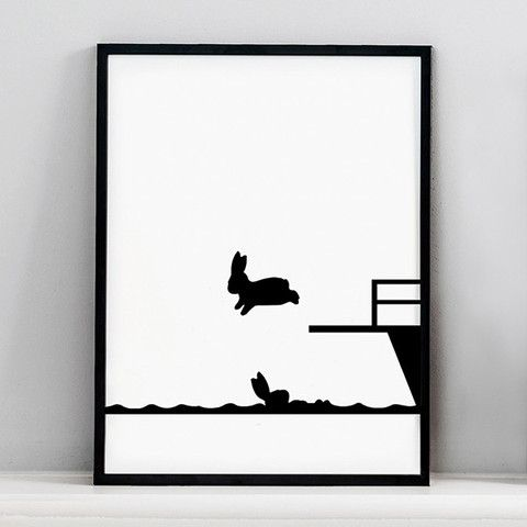 Diving Board Silhouette