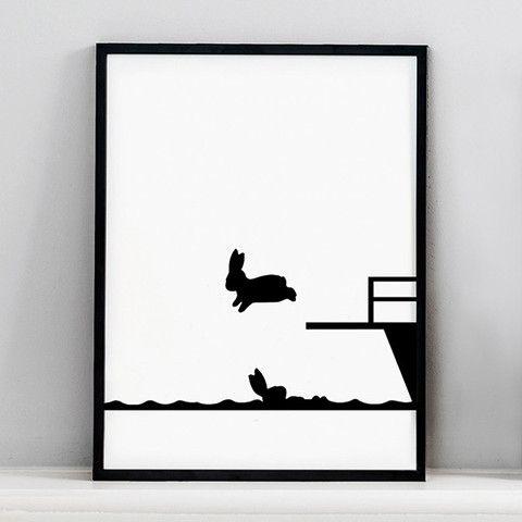 Diving Board Silhouette