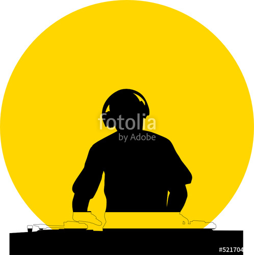 498x500 Dj Silhouette Stock Image And Royalty Free Vector Files