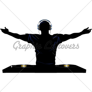 325x325 Dj Silhouette Gl Stock Images