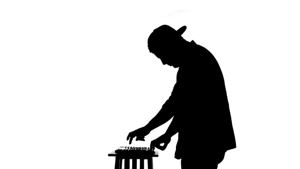 590x332 Black Silhouette Of A Dj Playing A Mixer On A By Lovevision