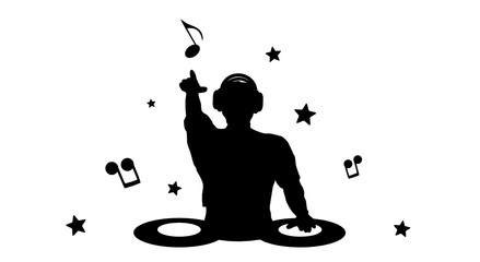 Dj Silhouette Vector at GetDrawings.com   Free for ...