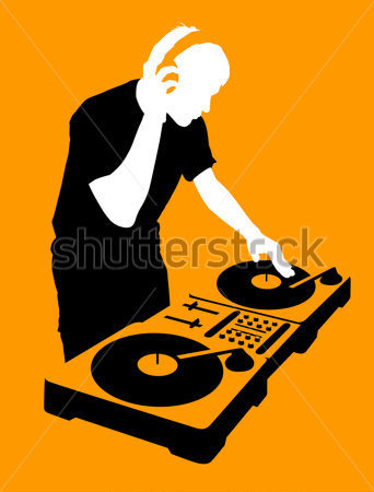 342x450 Free Dj Silhouette Vector Clipart