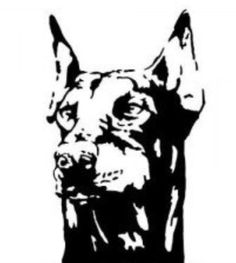 236x263 Doberman Head Silhouette Commission By Everkai Tattoo Placement