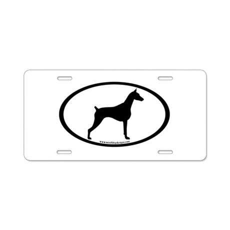 460x460 Doberman Pinscher Aluminum License Plates