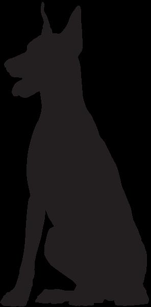 296x600 Doberman Silhouette Png Clip Art Image Cameo