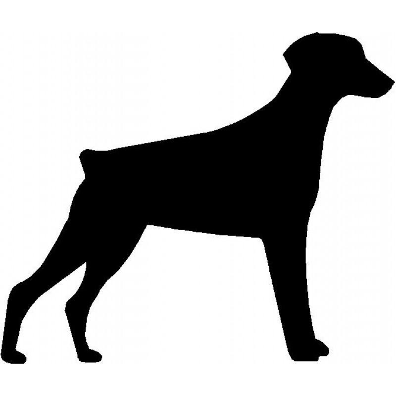 800x800 Dog Breed Silhouette Wall Hanging Magnetic Memo Doberman