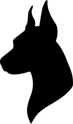 236x402 Dog Head Silhouette