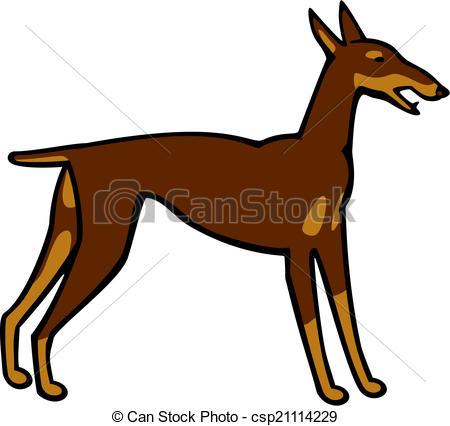450x426 Vector Illustration A Doberman Pinscher Dog Vector Illustration