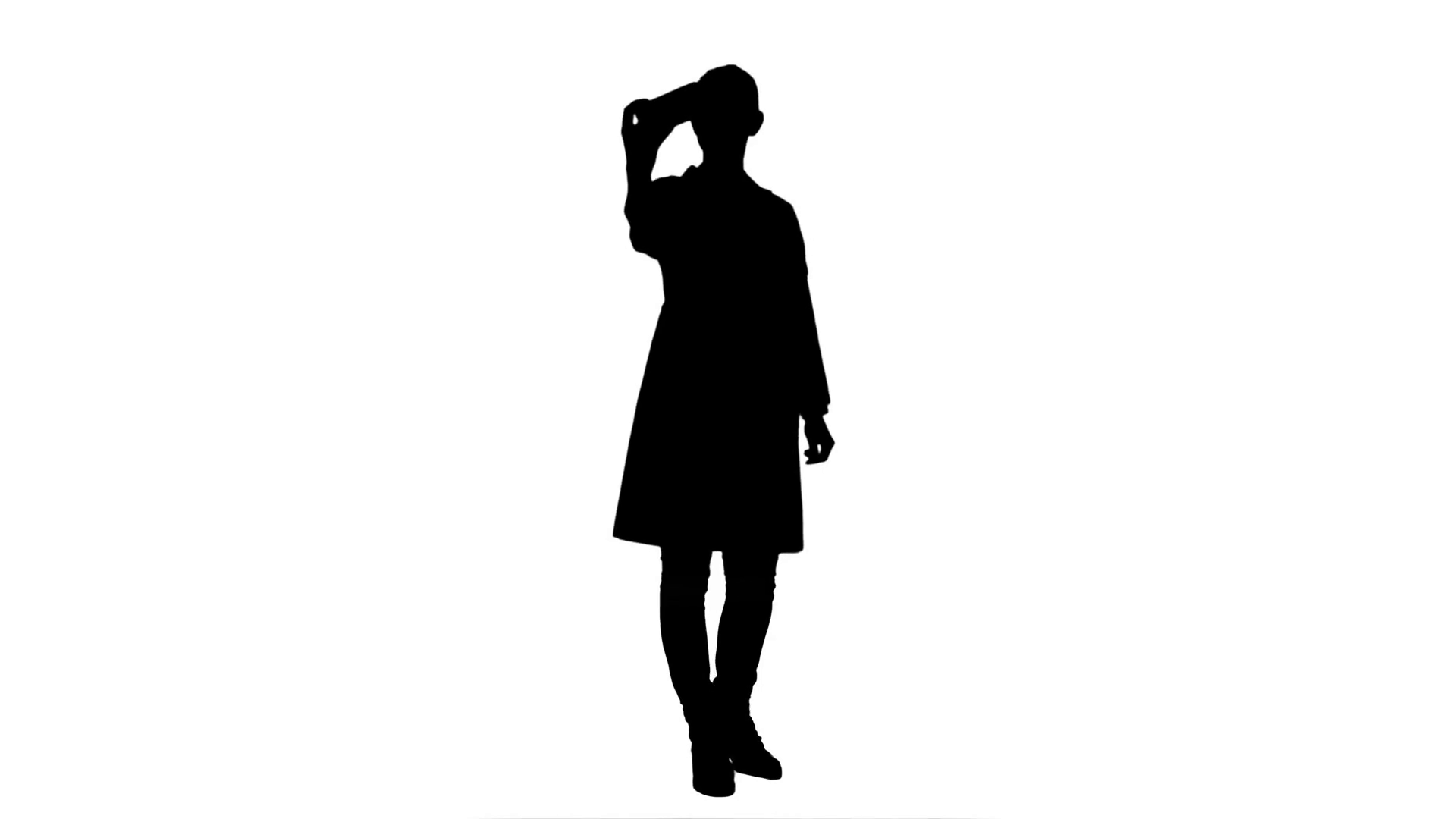 1920x1080 Silhouette Young Pretty Female Doctor Makes Selfie On Smart Phone