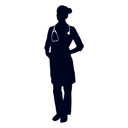 512x512 Woman Doctor Silhouette