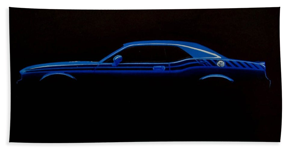 967x500 Challenger Silhouette Bath Towel For Sale By Paul Kuras