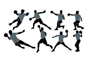 286x200 Kickball Players Silhouette Vector