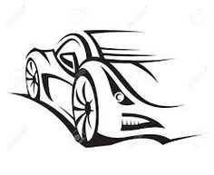 236x193 Race Car Silhouette Clipart