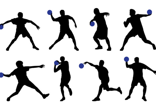 632x443 Silhouette Of Dodge Ball Player Free Vector Download 398513 Cannypic