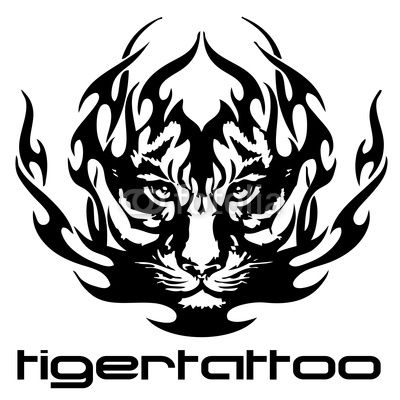400x400 This Is Sick Looking. I Love How The Tiger Face Gradually Goes Up