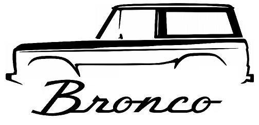 504x244 Ford Bronco Outline Silhouette Art Wall Decals Graphics Man Cave