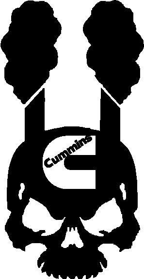 297x576 Cummins Diesel Ram Dodge Logo Vinyl Decal Sticker