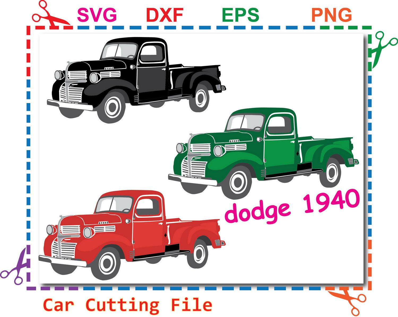 1500x1197 Car Svgtruck Svg Car Dodge Truck Svg File Dodge 1940 Svg