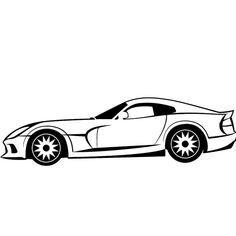 236x236 Racing Car Vector Image