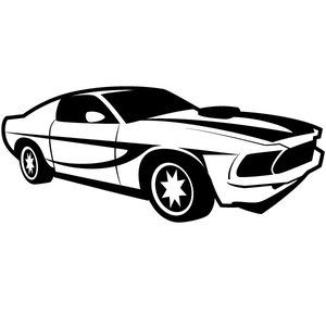 300x300 Racing Car Vector Image Transportation Silhouettes, Vectors