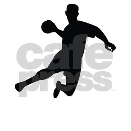 460x460 Dodgeball Player Silhouette Shower Curtain By Yoursportsgifts