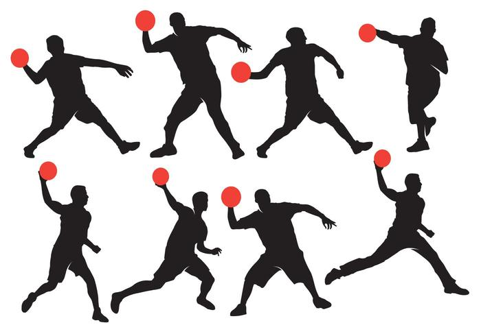 700x490 Dodgeball Silhouette With Ball Vectors