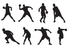 285x200 Dodgeball Silhouette Free Vector Graphic Art Free Download (Found