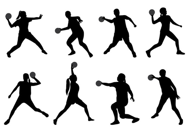 632x443 Silhouette Of Dodge Ball Player Free Vector Download 399165 Cannypic