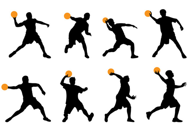 632x443 Silhouette Of Dodgeball Player Free Vector Download 377327 Cannypic