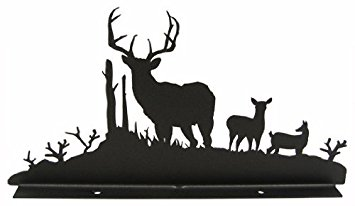 Doe And Buck Silhouette