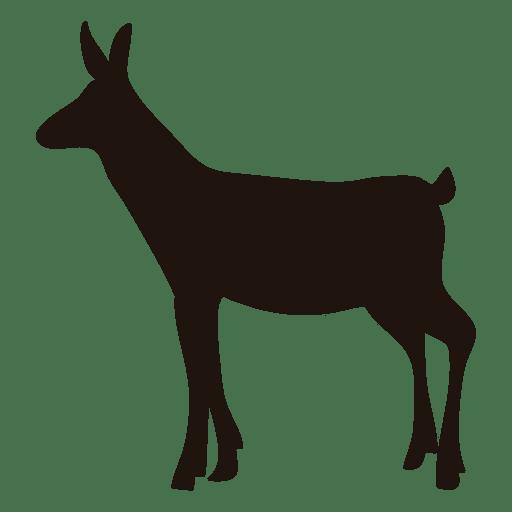 512x512 Deer Silhouette Standing 54