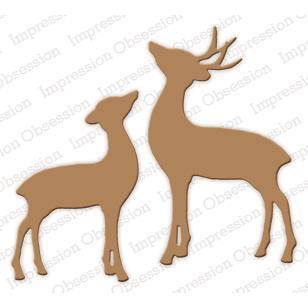 308x308 Impression Obsession Dies, Deer And Doe