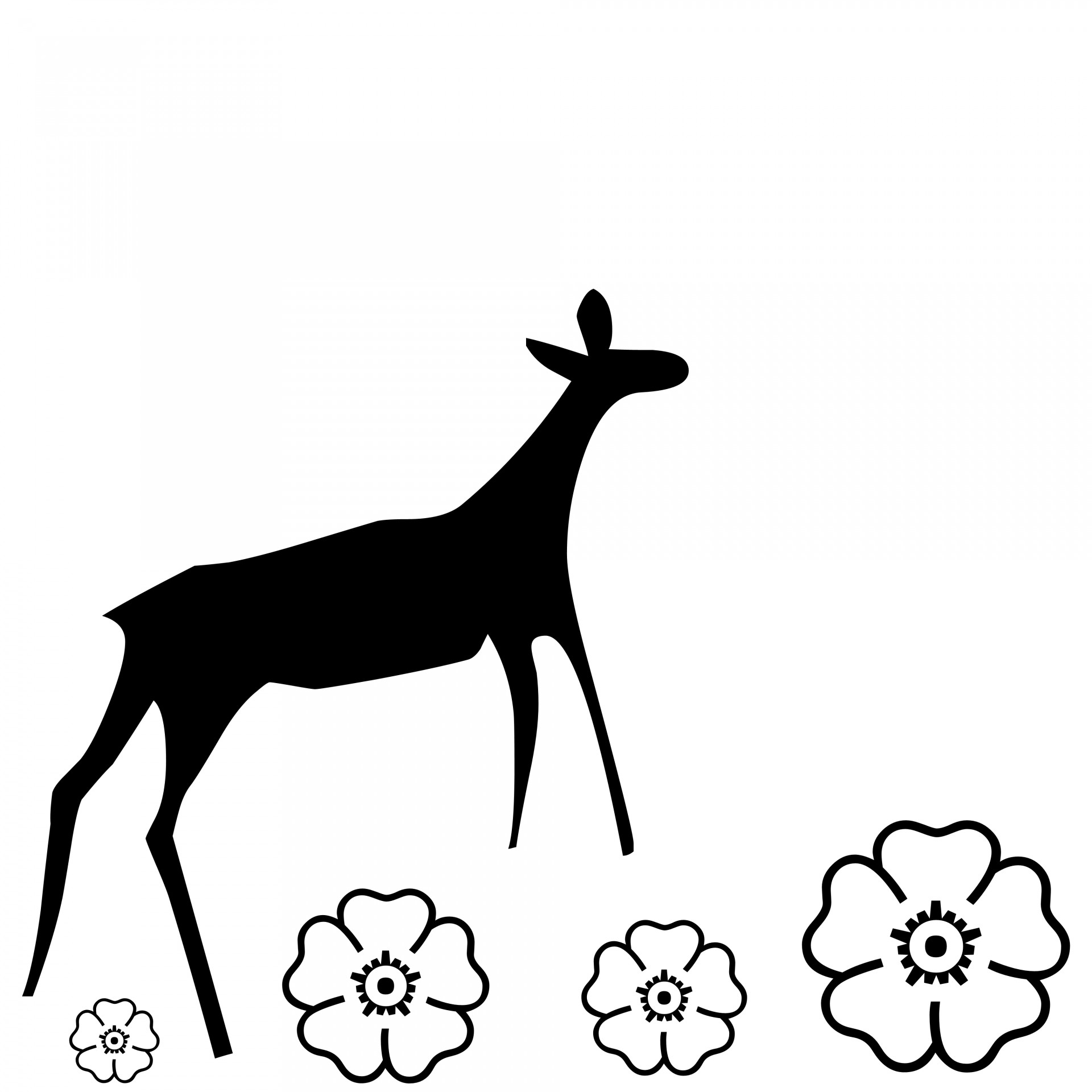 1920x1920 Silhouette Of A Doe Free Stock Photo