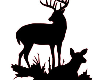340x270 Wellsuited Buck And Doe Clipart Tasty Cut Etsy Free