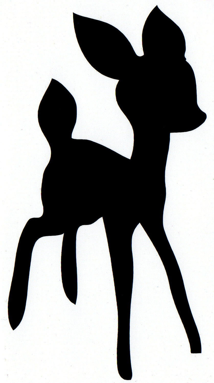 837x1500 Baby Deer Free Doe Silhouette Clipart Collection