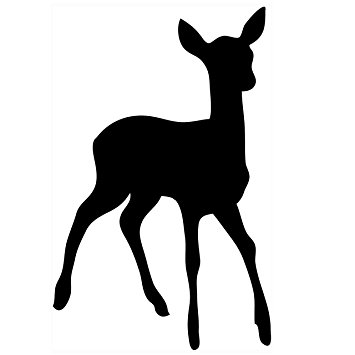 355x355 Pack Of 3 Doe Baby Deer Stencils Cut From 4 Ply Mat