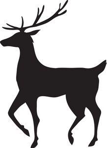 218x300 Large Reindeer Stencil Flourishes And Vinyl Ideas