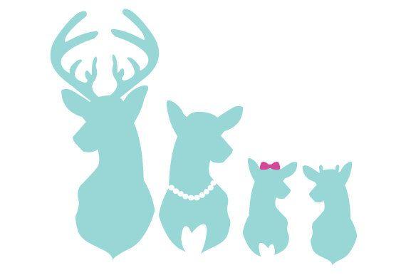 570x386 Mint Deer Family Car Window Decal Buck Doe Spike Deer Family