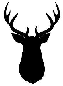 221x300 Silhouette Of Deer