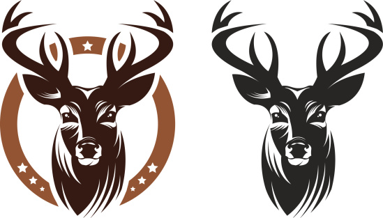 549x313 Stag Clipart Bust'46278