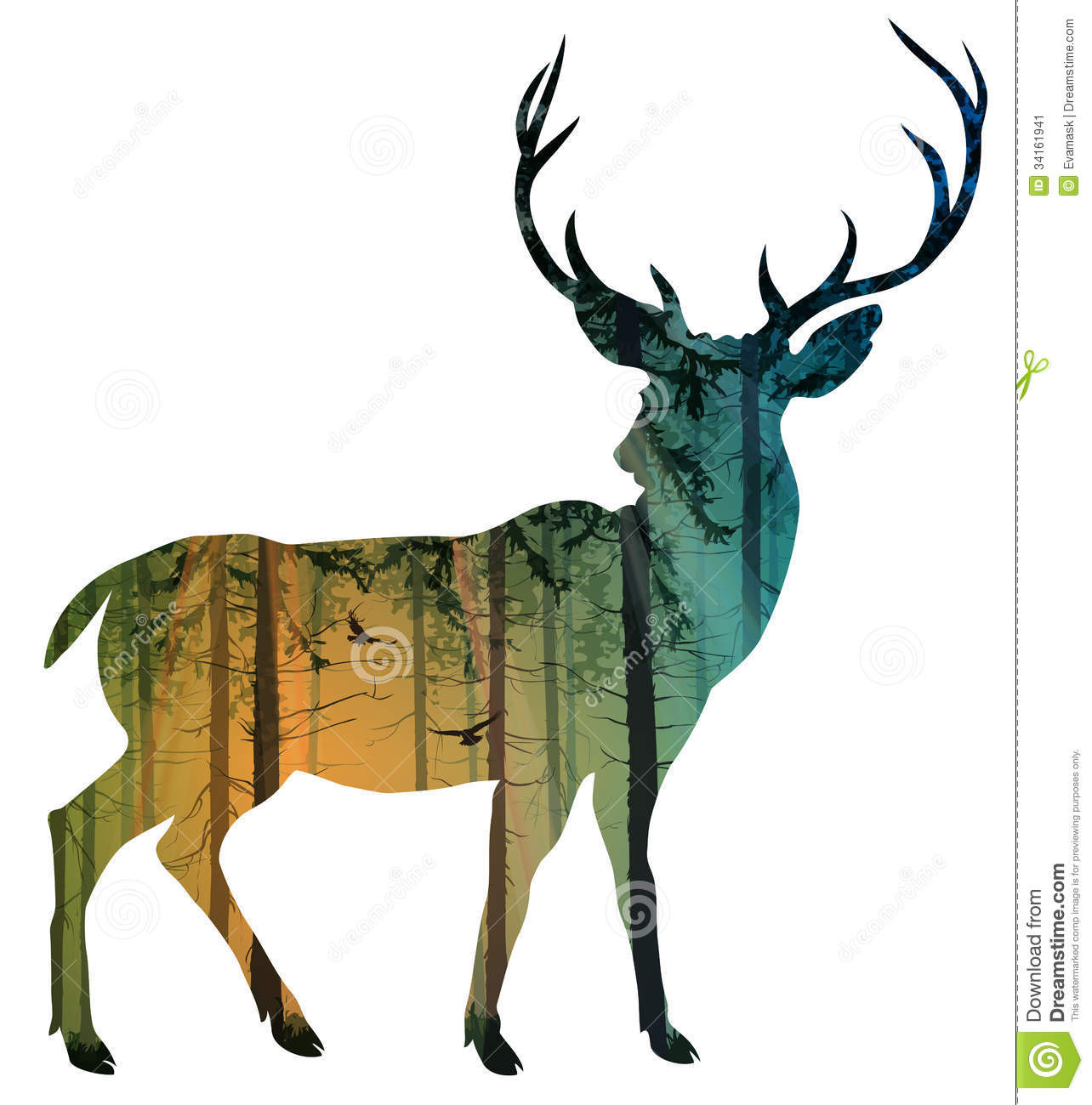 1284x1300 Stag Doe Head Silhouettes Vector File Svg Magnificent