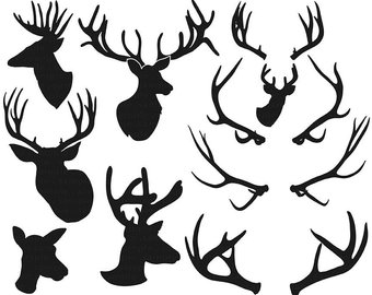 340x270 Stag Silhouette Etsy