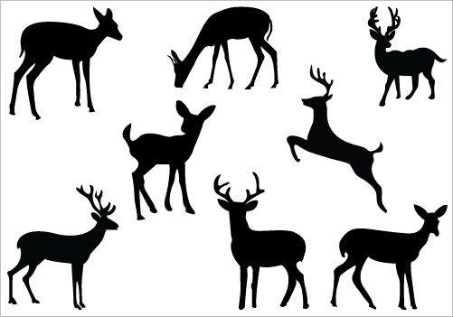 501x351 Buck And Doe Clip Art Deer Silhouette Clip Art Packcategory