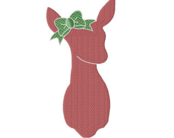 340x270 Buck And Doe Machine Embroidery Design 6 Sizes Instant