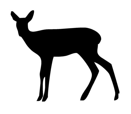 553x480 Buck And Doe Silhouette Flower Pots Crafthubs