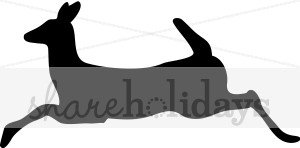 300x148 Doe Silhouette Reindeer Clipart