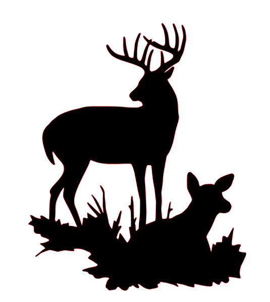 535x598 Buck And Doe Silhouette Svg File