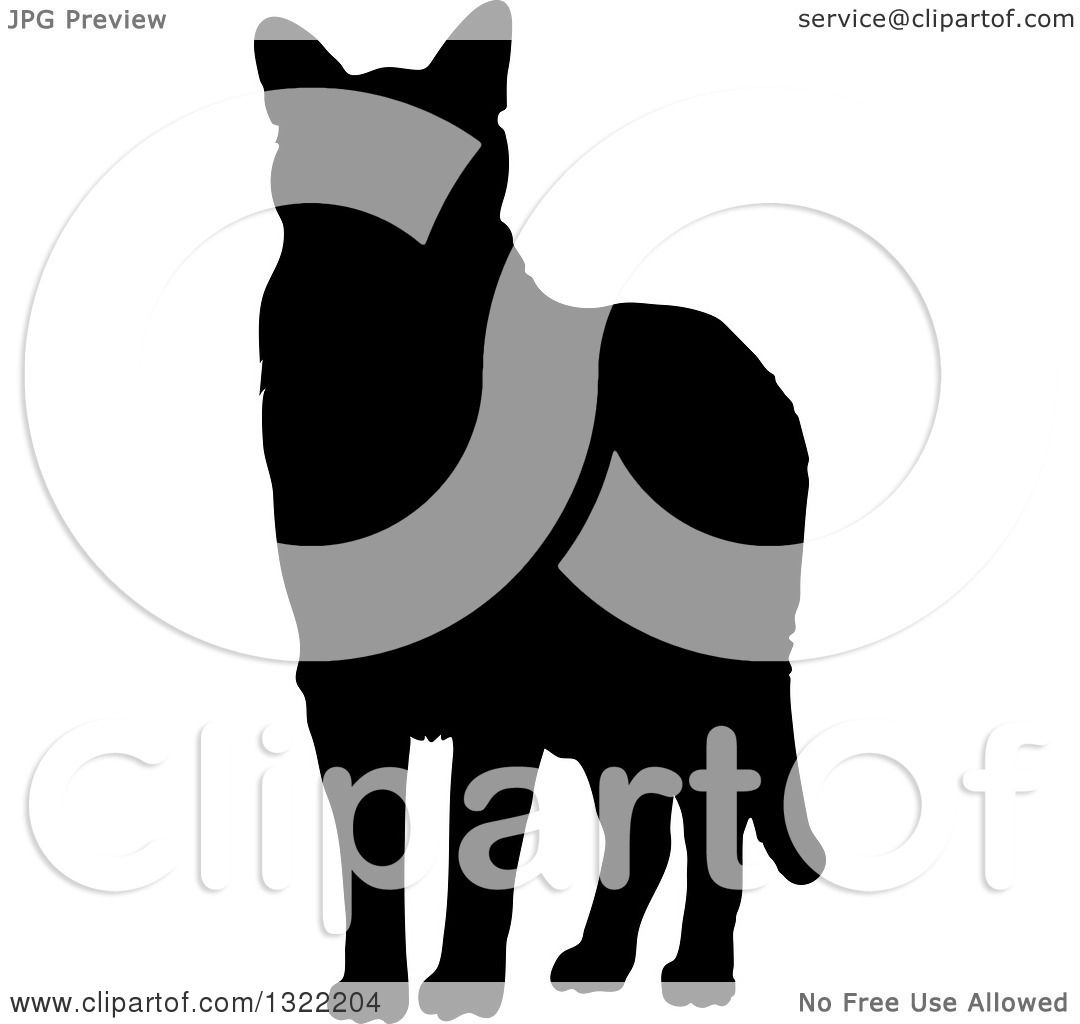 1080x1024 Clipart Of A Black Standing Cat Silhouette 2